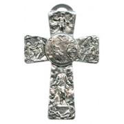 "Trinity Pewter Cross cm.16 - 6 1/4"""