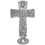 """Trinity Pewter Cross with Base cm.16 - 6 1/4"""""""