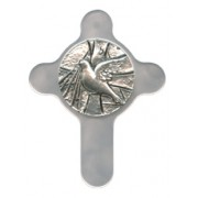 Confirmation Pewter Medal with Mother of Pearl Cross