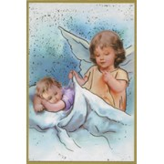 "Guardian Angel Plaque cm.15.5x10.5 - 6""x4"""
