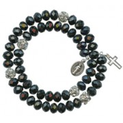 Crystal Wrap a Round Bracelet Black mm.6