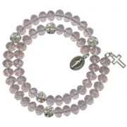 Crystal Wrap a Round Bracelet Pink mm.6