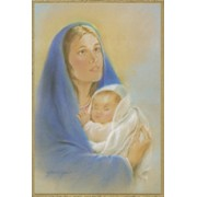 "Mother and Child Plaque cm.15.5x10.5 - 6""x4"""