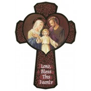 Holy Family Cross English cm.13.5 - 5 1/4""