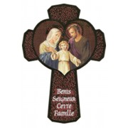 Holy Family Cross French cm.13.5 - 5 1/4""
