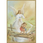 "Guardian Angel Bridge Plaque cm.15.5x10.5 - 6""x4"""