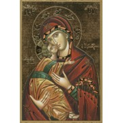 """Icon Mother and Child Plaque cm.15.5x10.5 - 6""""x4"""""""