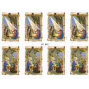 """Nativity 8 Stickers cm.12x16 - 5""""x6"""""""