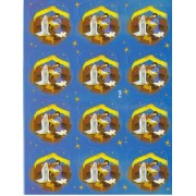 "Nativity 12 Stickers cm.12x16 - 5""x6"""