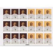 "Pope Francis 18 Stickers cm.12x16 - 5""x6"""
