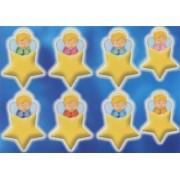 """Guardian Angel Star Glow in the Dark Stickers cm.6.5x10 - 2.5""""x4"""""""