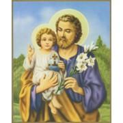 "St.Joseph Plaque cm.25.5x20.5 - 10""x8 1/8"""