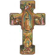 Our Lady of Guadalupe Cross cm.13 - 5""