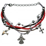 Charm Bracelet (Cross, Dove, Angel) Gift Boxed