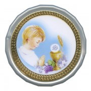 Boy Communion White Octagon Rosary Box cm.5 - 2""