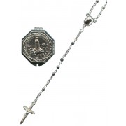 R150S Silver Plated Rosary with Fatima Rosary Box