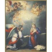 "Annunciation Plaque cm.25.5x20.5 - 10""x8 1/8"""