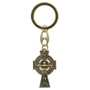 Celtic Cross Keychain Gold Plated