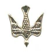 Dove Lapel Pin Silver Plated mm.20 - 3/4""