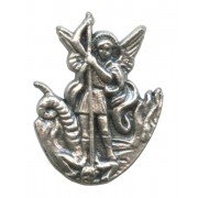 St.Michael Lapel Pin Pewter mm.21- 3/4""