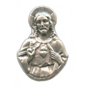 Sacred Heart of Jesus Lapel Pin Pewter mm.21- 3/4""
