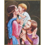 "Holy Family Plaque cm.25.5x20.5 - 10""x8 1/8"""