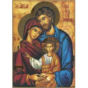 "Icon Holy Family Plaque cm.28.5x20.5 - 11 1/4""x8 1/8"""