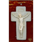 "Crucifix on Murano Glass mm.170x110 - 6 1/2""x 4 1/4"""