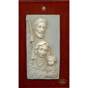 "Holy Family on Murano Glass mm.170x110 - 6 1/2""x 4 1/4"""