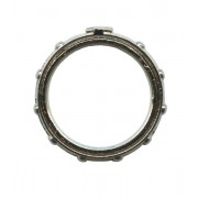 Turning Rosary Ring Oxidized Metal mm.16 - 5/8""