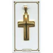 Cross Pendent Gold Plated mm.30 - 1 1/4""