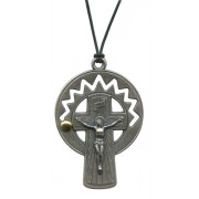 Rosary Crucifix Pendent with Cord mm.52- 2""