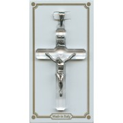 Crystal Lucite Pocket Crucifix mm.38- 1 1/2""