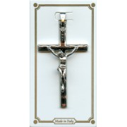 Hammered Crucifix Nickel Plated mm.40 - 1 1/2""