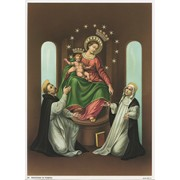 "Our Lady of the Rosary Print cm.19x26 - 7 1/2""x 10 1/4"""