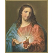"Sacred Heart of Jesus Plaque cm25.5x20.5 - 10""x8 1/8"""