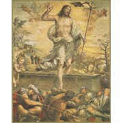"Resurrection Plaque cm.25.5x20.5 - 10""x8 1/8"""