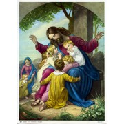 "Jesus with Children Print cm.19x26 - 7 1/2""x 10 1/4"""