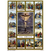 "Stations of the Cross Print cm.19x26 - 7 1/2""x 10 1/4"""