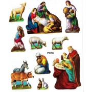 "Nativity 10 Stickers cm.12x16 - 5""x6"""