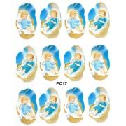 """Baby Jesus 12 Stickers cm.12x16 - 5""""x6"""""""
