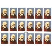 "Padre Pio 18 Stickers cm.12x16 - 5""x6"""