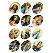 """12 Assorted Stickers cm.12x16 - 5""""x6"""""""