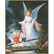 "Guardian Angel Plaque cm.25.5x20.5 - 10""x8 1/8"""