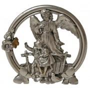 """Guardian Angel Pewter Medal on Base cm.5 - 2"""""""