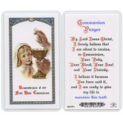 "Communion Prayer- Girl English Text Prayer Card cm.6.6x 11.5 - 2 1/2""x 4 1/2"""