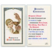 "Communion Prayer- Boy French Text Prayer Card cm.6.6x 11.5 - 2 1/2""x 4 1/2"""