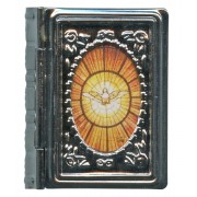 "Metal Box Booklet Small Holy Spirit cm.5x4- 2""x 1 3/4"""