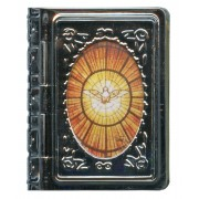 "Metal Box Booklet Large Holy Spirit cm.6.5x5.5 - 2 1/2""x 2 1/4"""