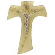 "Gold Murano with Gold Murano Inlay Crucifix cm.16 - 6 1/4"""